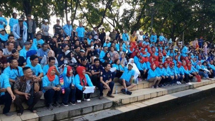 Dukung Denny Indrayana di Pilgub Kalsel 2020, Begini Ratusan Relawan Deklarasikan Dukungan