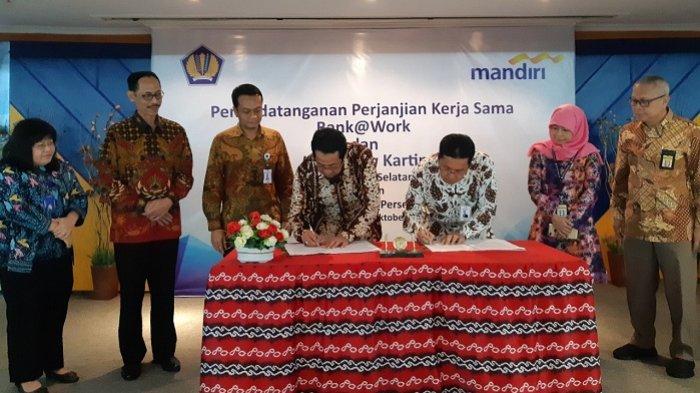 Bank Mandiri dan DJP Kalselteng Lakukan MoU Kerjasama Implementasi Kartin1 Mandiri, Ini Tujuannya