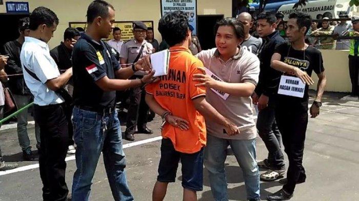 Pembunuhan di Jalan Dahlia Banjarmasin Barat Direkaulang
