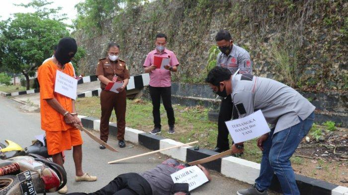 Pembunuhan di Kalsel, Rekonstruksi pembunuhan di Sompul Satui Tanbu