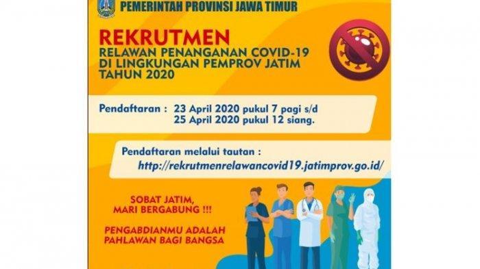 Lowongan Pekerjaan Relawan Covid 19 Dibuka Gaji Rp 2 5 Juta Hingga Rp 10 Juta Halaman All Banjarmasin Post