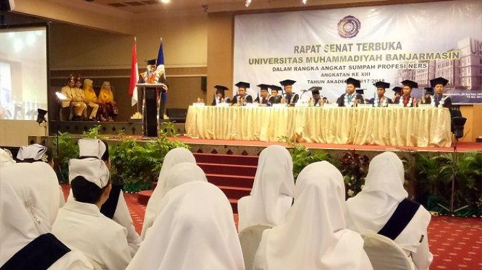 Lagi, UM Banjarmasin Lakukan Angkat Sumpah Profesi Ners pada 119 Mahasiswa