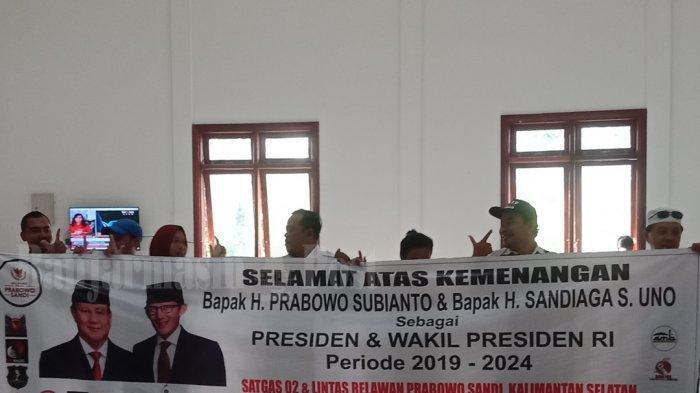 Relawan Prabowo-Sandi Kalsel Ikut Deklarasikan Kemenangan Pilpres 2019