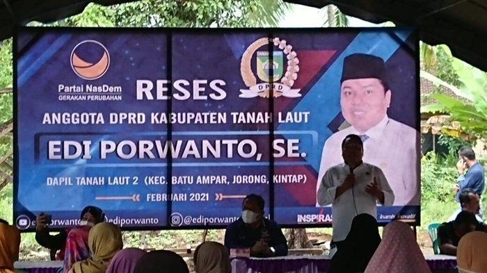 Ketua Komisi II DPRD Tanahlaut Reses Gelar Donor Darah di Kecamatan Batuampar Tanahlaut