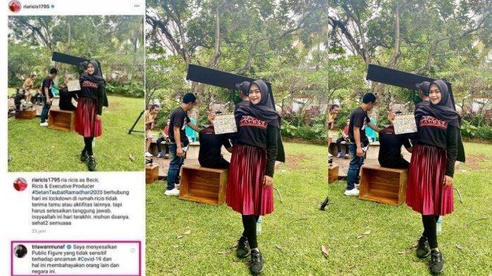 Respons Ria Ricis Pasca Dilabrak Warga & Triawan Munaf Saat Syuting ketika Pandemi Virus Corona