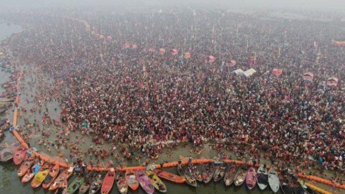 Mandi Massal di Sungai Gangga Saat Pandemi, 1.000 Orang Dinyatakan Postif Covid-19