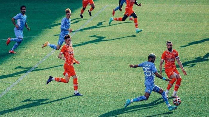 Modal Apik Man City ke Community Shield, Mahrez dkk Bantai Blackpool di Ajang Pra-musim