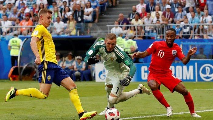 Lagi, Tandukan Pemain Inggris Jadi Petaka Timnas Swedia Skor 2-0 Awal Babak Kedua