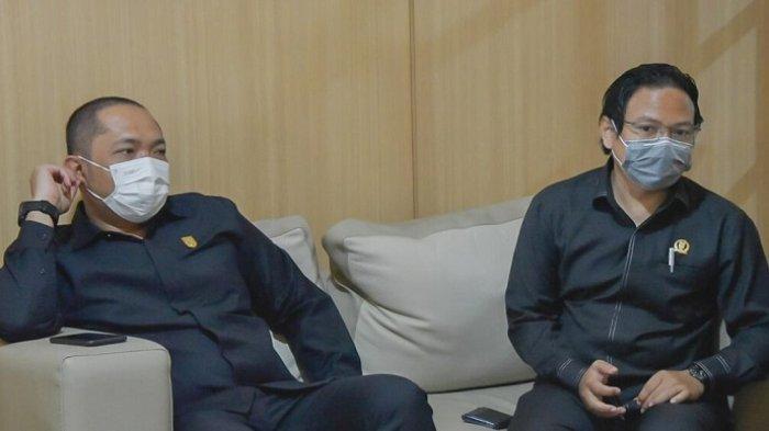 Rombongan DPRD Kalteng saat berkunjung ke DPRD Kalsel, Senin (19/4/2021).