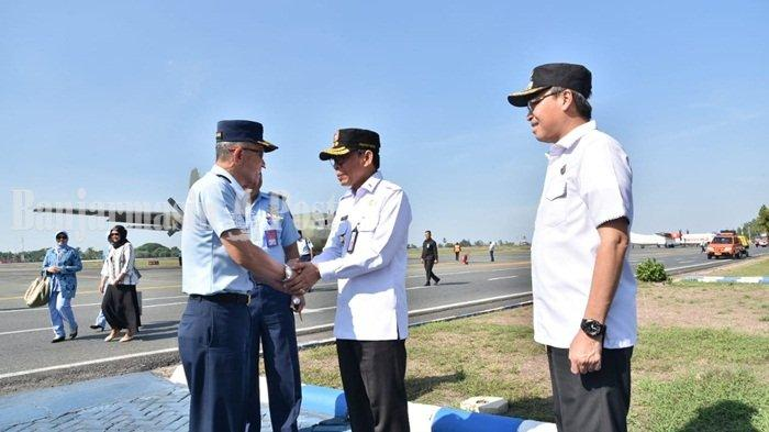 Pesawat Hercules Terbang Rendah di Banjarbaru Rabu Siang, Ternyata Bawa Rombongan Ini
