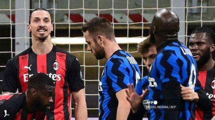 Susunan Pemain AC Milan vs Inter Milan Liga Italia, Trio Ibrahimovic, Rebic, Calhanoglu di Derby