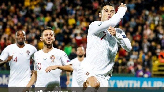 Hasil Lengkap Kualifikasi Euro 2020 - Ronaldo Quattrick, Inggris Sempurna, Griezmann Gagal Penalti