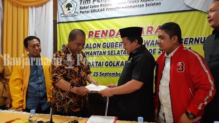 Pilbub Pilwabub Kalsel 2020, Rosehan dan Gusti Iskandar Kembalikan Berkas Cawabub ke Golkar