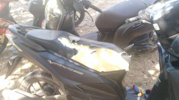 Kerusakan akibat ulah monyet liar menyerang kendaraan RSJ Sambang Lihum Jalan Gubernur Syarkawi Gambut