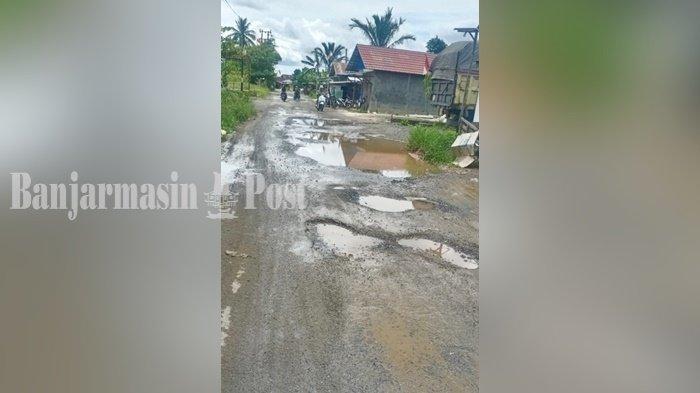 Warga Berharap Jalan Rusak Parah di Pingaran Ulu Kabupaten Banjar Segera Diperbaiki