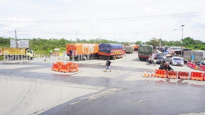 Pelebaran Jalan Handil Bakti Hingga Simpang Serapat Kabupaten Batola Masih Terkendala Lahan