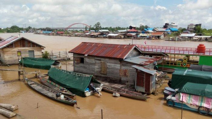KaltengPedia: Profil Rumah Lanting Sungai Kahayan Palangkaraya