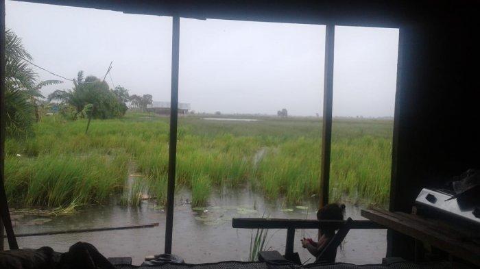 Diterjang Angin Kencang Hujan Lebat, Tiga Rumah Rusak di Desa Garis Hanyar Kabupaten Banjar