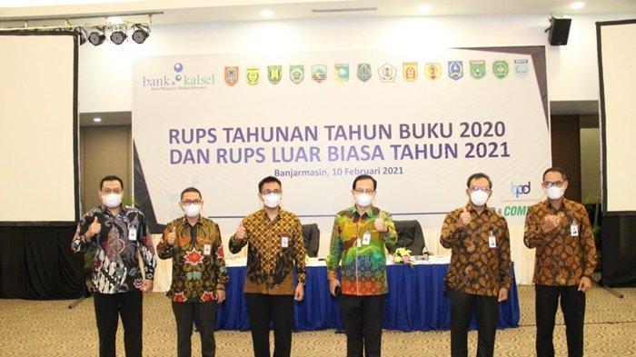Rapat Umum Pemegang Saham (RUPS) Bank Kalsel untuk Tahun Buku 2020 dan RUPS Luar Biasa (LB) Tahun 2021, Rabu (10/2/2021).