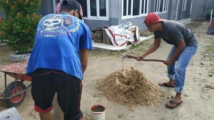 Dikerjakan Warga Binaan, Rutan Kualakapuas Bisa Produksi Batako 300 Biji Per Hari