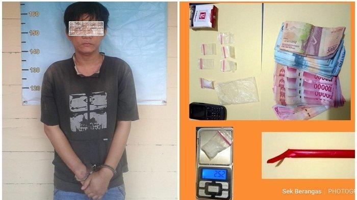 Pengedar Narkoba Lintas Kabupaten Ditangkap Polsek Berangas Batola Ditangkap, Polisi Sita 2,34 Gram