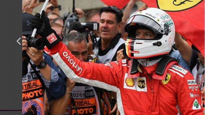 Hasil Kualifikasi F1 GP Jerman 2018 - Vettel Raih Pole Position, Hamilton Alami Gangguan Mesin
