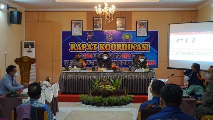 Satgas Covid-19 Kabupaten HSS Gelar Rapat Koordinasi Kendalikan Penyebaran Corona