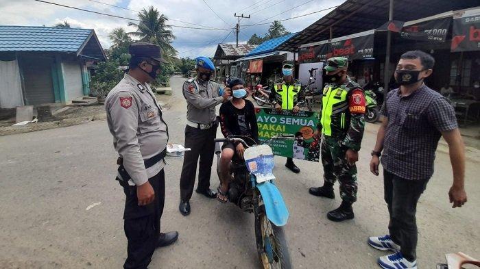 PPKM di Balangan, 27 Warga di Kecamatan Halong Terjaring Razia Protokol Kesehatan