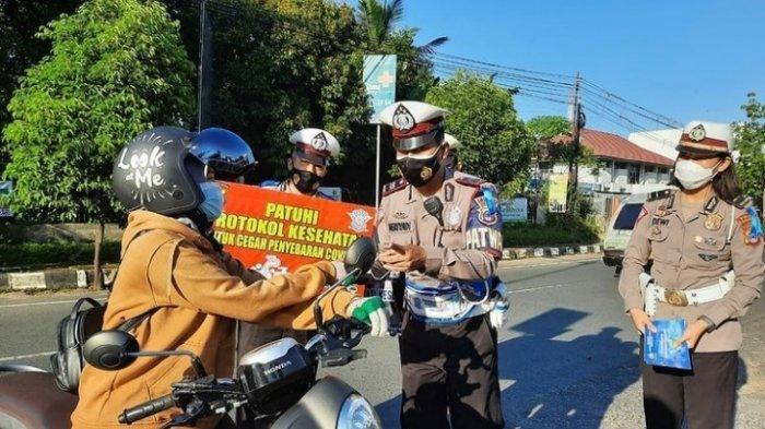 Aturan Larangan Mudik, Satlantas Polres Banjarbaru Turunkan Personel Berjaga di Empat Titik