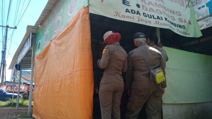 Beberapa Warung Kedapatan Buka Siang Hari, Satpol PP Banjarbaru Beri Teguran ke Pemilik