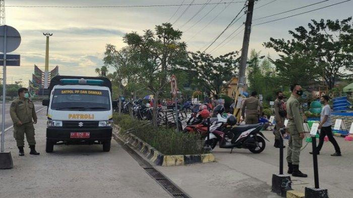 Satpol PP Kapuas Gelar Patroli Rutin, Disiplinkan Penerapan Protokol Kesehatan