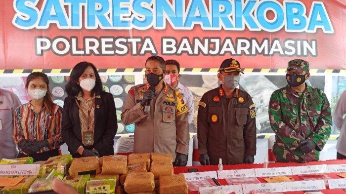 Pemusnahan Barang Bukti 94 Kg Narkoba, Kapolresta Banjarmasin Beri Peringatan ke Bandar