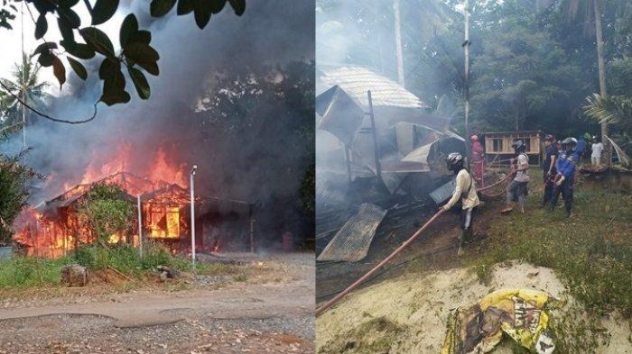 Kebakaran Kalsel : Ditinggal Pergi, Satu Rumah di Desa Pemuda Tanahlaut Ludes Dilalap Sijago Merah