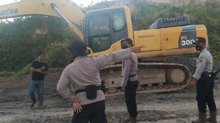 Polda Kalsel Amankan Satu Unit Eksavator Milik Penambang Liar di Tapin