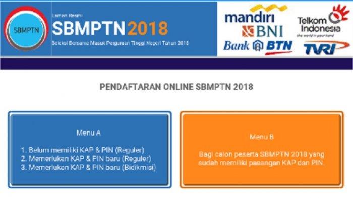 Sisa 1 Hari Lagi Pendaftaran SBMPTN 2018, Sebelum Ditutup 27 April Esok, Ini Linknya