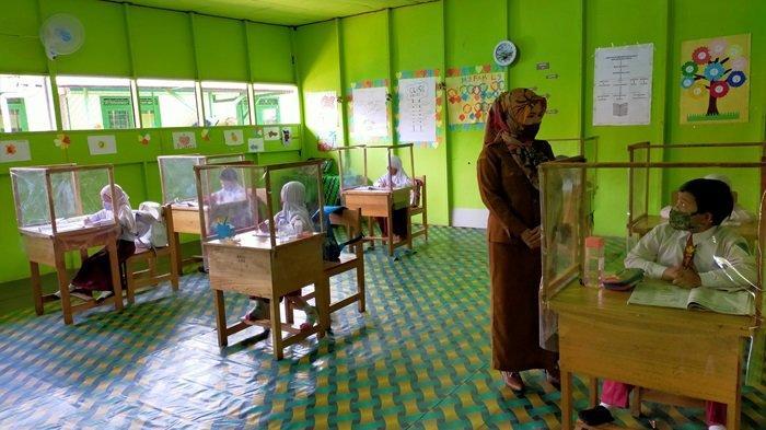 Pembelajaran Tatap Muka Masa Pandemi, SDN Murung Sari HSU 5 Terpilih Jadi Sekolah Percontohan