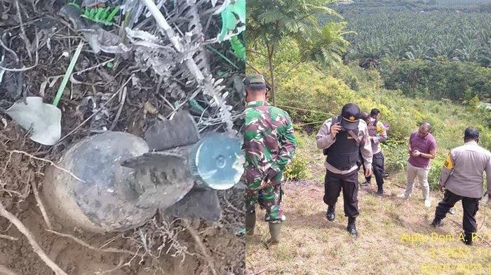 Mortir Aktif Ditemukan di Gunung Damarwulan PTPN Tanahlaut, Langsung Diledakkan Tim Gegana