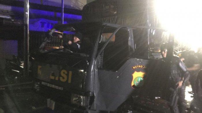 UPDATE Kerusuhan Aksi 22 Mei - Massa di Kawasan Sabang Berusaha Bakar Truk Polisi Bermuatan Makanan