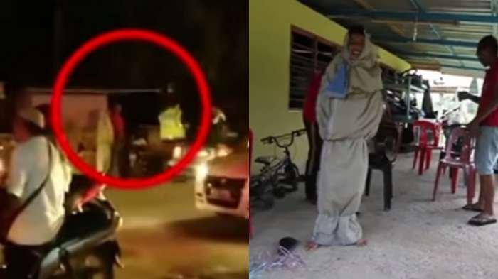 VIDEO - Pocong Ini Bikin Anak-anak yang Pulang Mengaji Ketakutan, Polisi Menangkapnya, Ternyata!