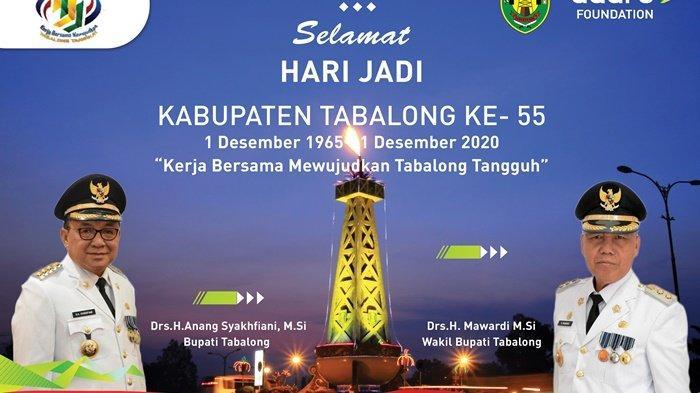 Selamat Hari Jadi Kabupaten Tabalong ke-55, Kerja Bersama Mewujudkan Tabalong Tangguh