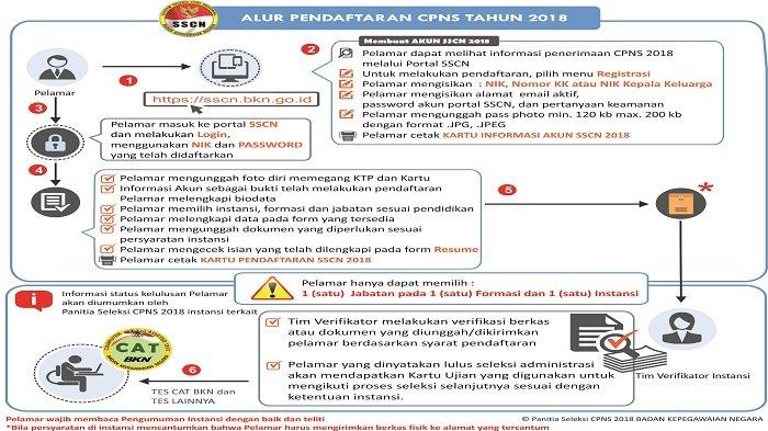 Masih Bingung Cara Pendaftaran Seleksi CPNS 2018 di Sscn.bkn.go.id? Berikut Alurnya Menurut BKN