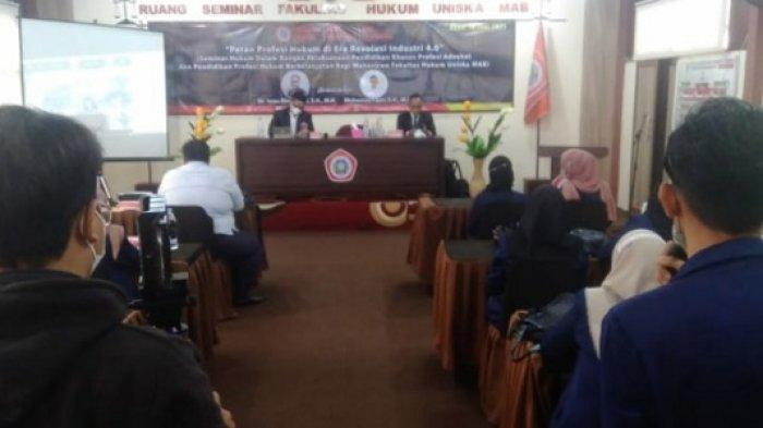 Laksanakan Pendidikan Profesi Hukum, Fakultas Hukum Uniska Banjarmasin Gelar Seminar Daring