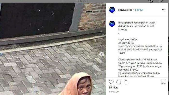 VIRAL Perempuan Berkerudung Nekat Membobol Rumah, Curi Ribuan Dollar AS & Ditangkap Berkat Netizen