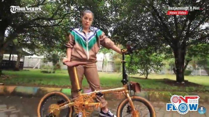 sepeda lipat emas