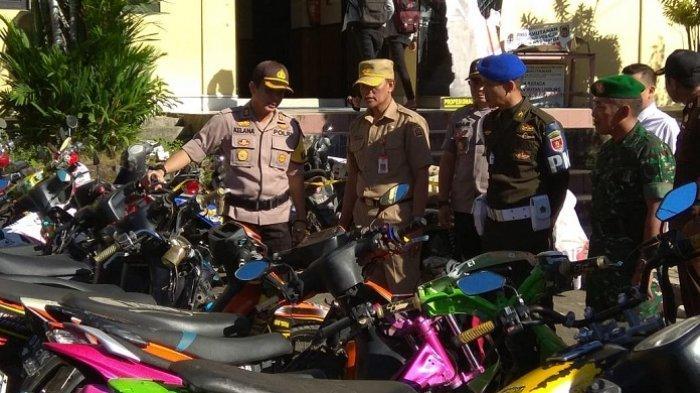 Puluhan Motor Balap Liar Masih Mangkrak di Polres Banjarbaru, Tunggu Hasil Sidang