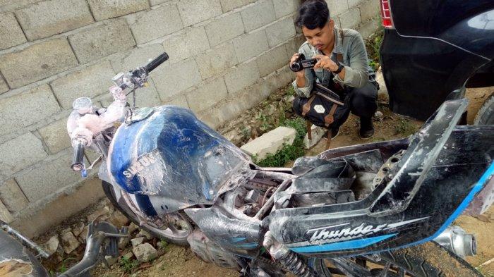 Duh, Hampir Saja, Api Tiba-tiba Berkobar dari Motor Arifan, Petugas SPBU Pun Panik