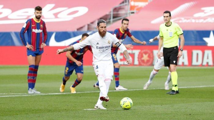 Liga Champions Atalanta vs Real Madrid Live SCTV, Kapten El Real Sergio Ramos Absen di Dua Leg