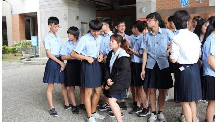 Dijinkan Kenakan Bawahan Rok Perempuan di Sekolah, Begini Penampilan Siswa Laki-laki di Taiwan