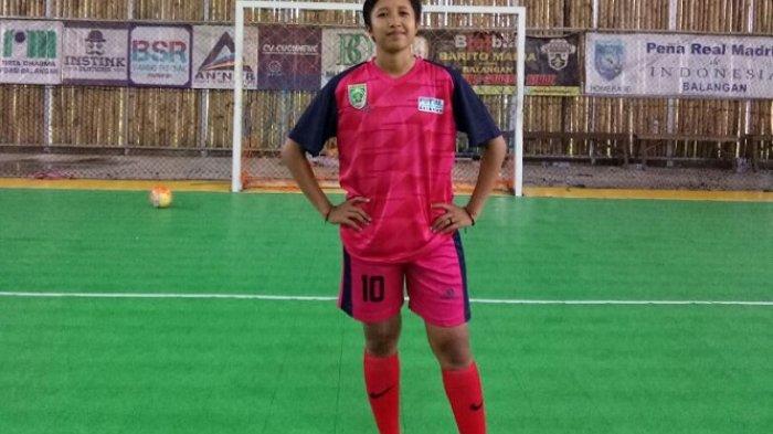 Gaya Selebrasi Ini Kerap Dilakukan Pemain Futsal Putri Asal Balangan Tiap Cetak Gol