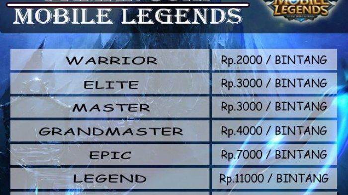 Wow! Joki Game Online Mobile Legend Juga Punya Skema Tarif Loh, Ini Daftarnya